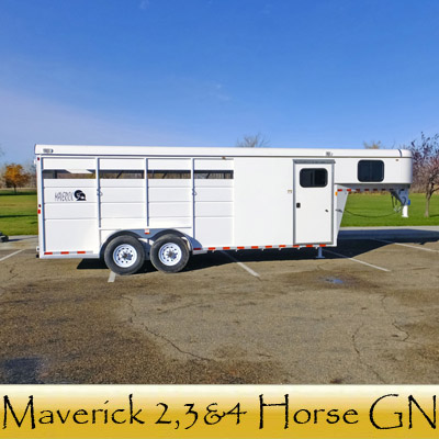 Maverick 2,3 and 4 Horse GN Trailers